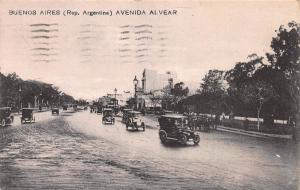 Avenida, Alvear, Buenos Aires, Argentina, Early Postcard, Used in 1922 to Zurich