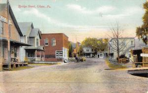 Ulster Pennsylvania Bridge Street Scene Historic Bldgs Antique Postcard K48931