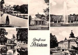 Gruss aus Potsdam, Orangerie, Chinesisches Teehaus, Schloss Sanssouci Brunnen