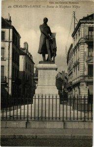 CPA Chalon sur Saone Statue de Nicephore Niepce FRANCE (952616)