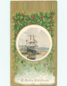 Divided-Back CHRISTMAS SCENE Great Postcard W9619