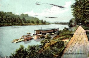 Ohio Marietta Mississippi River View 1909 Rotograph