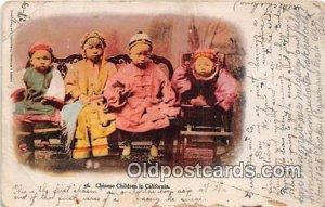 Chinese Children California, USA 1905