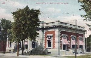 Post Office Battle Creek Michigan 1909