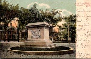 Maine Portland Henry W Longfellow Monument 1906