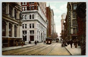 Pittsburgh Pennsylvania~5th Avenue & Wood Street~Folk on Corner~Downtown c1905