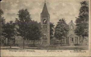 Elkins WV Church 1907 Forgy OH Doane Cancel Postcard rpx