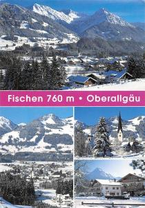 Fischen Oberallgaeu multiviews Gesamtansicht Berg Mountains Winter Pension