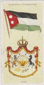 Player Vintage Cigarette Card National Flags & Arms No 23 Iraq  1936