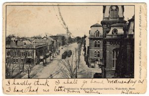 Greetings from Wakefield, Mass, View of Wakefield Square
