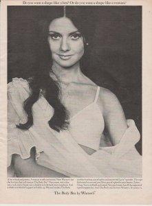 Warner's Bra 1965 Print Ad, Shape Like a Woman, Pretty Brunette