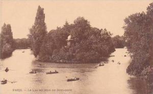France Paris Le Lac Bois De Boulogne