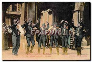 Old Postcard Folklore Dance Pyrenees Ariege Massat