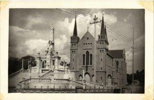 PC CPA PAKISTAN, KARACHI, SAINT PATRICK'S CHURCH, REAL PHOTO POSTCARD (b12067)
