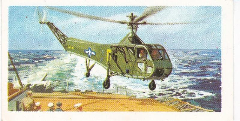 Trade Card Brooke Bond Tea History of Aviation black back reprint No 27 Sikorsky