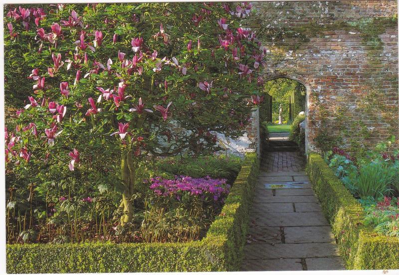 Postcard Kent Sissighurst Castle Gardens Rose Garden