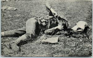 1910s WWI Kavanaugh Chicago Daily News Postcard Digging in Quick Army Soldier