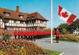 Canada Royal Canadian Mounted Police Raising The New Flag