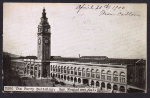 Ferry Building - San Francisco - Adolph Selige card