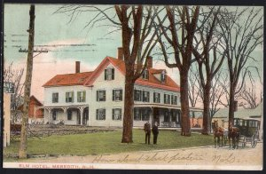 New Hampshire ~ Elm Hotel, MEREDITH Und/B pm1906 Horse/Carriage