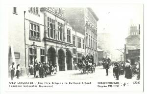 Pamlin Old Leicester no C1240 RP PPC, The Fire Brigade in Rutland St