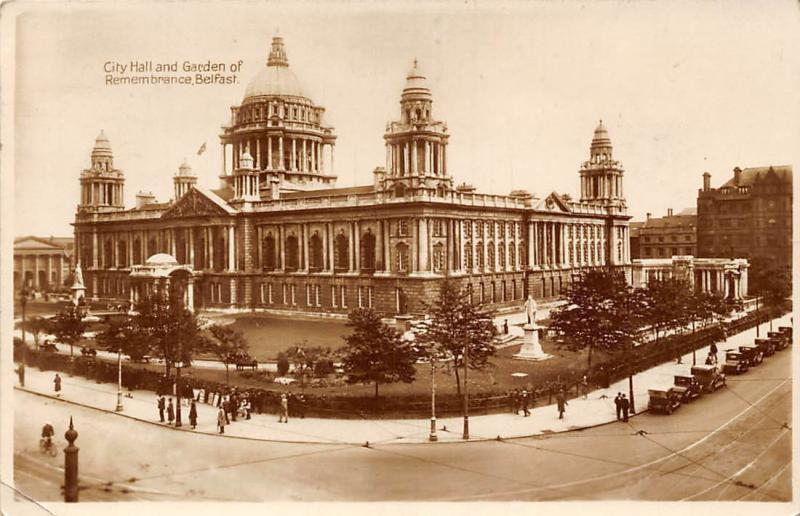 Belfast City Hall and Garden of Remembrance 1933