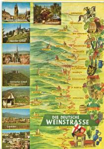 Germany, Die Deutsche Weinstrasse, 1972 used Postcard