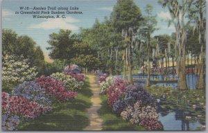 Wilmington, N. C., Azalea Trail along Lake, Greenfield Park Sunken Gardens