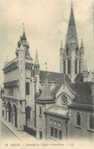 Postcard France Dijon Abside eglise Notre Dame