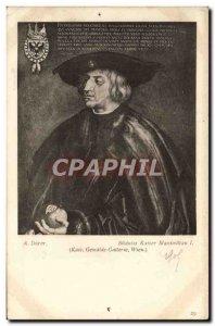 Old Postcard B Denner Bildniss the Kaiser Maximillan