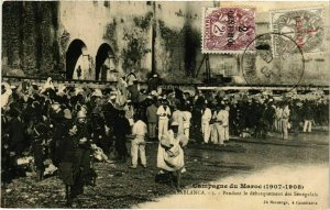 CPA AK Casablanca - Pendant le Debarquement des Senegalais MAROC (963332)