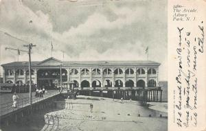 The Arcade, Asbury Park, New Jersey, Early Postcard, Used