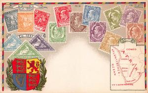Cape of Good Hope, Classic Stamps in Actual Colors, Early Postcard, Unused