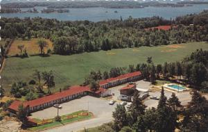 Aerial View, Swimming Pool, Gateway Motel and Restaurant, THOUSAND ISLANDS, O...