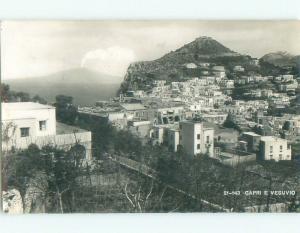 old rppc VESUVIO & HOUSES Capri - Bay Of Naples Italy i3246