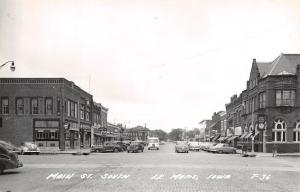 Le Mars Iowa~Halden's~Hamm's Beer~Grocery~Royal Theater~Skelly~1940s Cars~RPPC