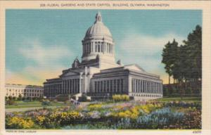 Washington Olympia Floral Gardens and State Capitol Building