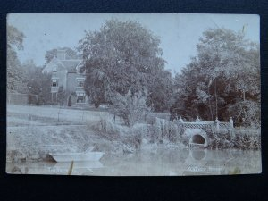 Essex Epping ABBESS RODING The Rectory shows Boat on Water - Old RP Postcard