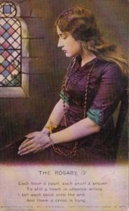 Bamforth Beautiful Woman Praying The Rosary No 2