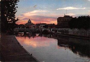 Castel S Angelo e Cupola di S Pietro Roma Italy 1966