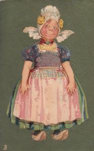 TUCK Art Series No. 6374 My Little Dutch , 1908, 00-10s