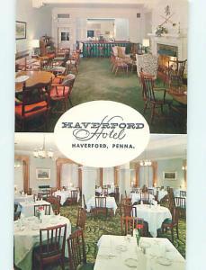 Unused Pre-1980 HAVERFORD HOTEL RESTAURANT Haverford Pennsylvania PA Q5954
