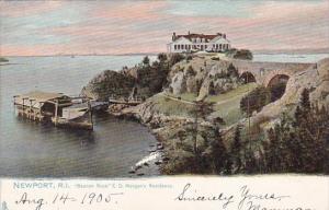 Rhode Island Newport Beacon Rock E D Morgan's Residence