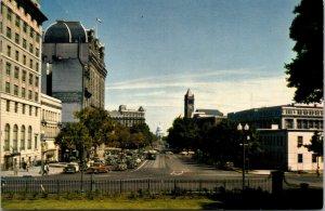 Vtg Pennsylvania Avenue Looking Towards Nations Capitol Washington DC Postcard