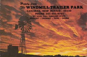 New Mexico Carlsbad Howdy From Windmill Trailer Park
