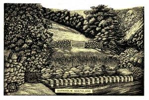 North Yorkshire Art Postcard, Darnholm, Goathland by Douglas Reay GE3