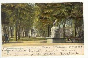 Soldiers' Monument,Gazebo On The Green, Waterbury, Connecticut 1907 PU