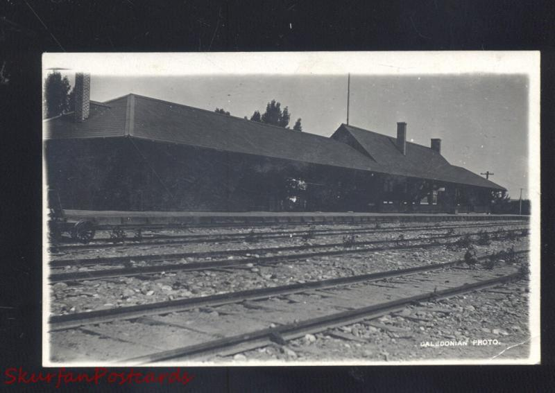 ROCK SPRINGS WYOMING RAILROAD DEPOT TRAIN STATION OLD REAL PHOTO POSTCARD