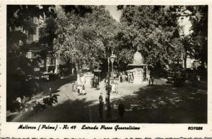 spain, Mallorca, PALMA, Entrada Paseo Generalisimo (1950s) RPPC