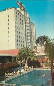 Crocker Hollywood California Roosevelt Hotel Pool Swimming Pool Postcard 8920